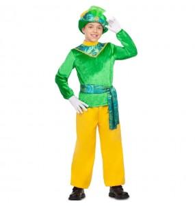 Fato de Pajem Rei Mago verde para menino