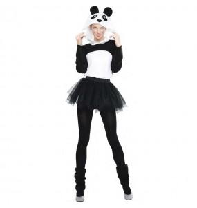 Fato de Panda com tutu para mulher