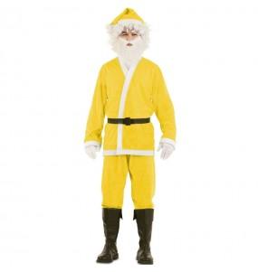 Fato de Pai Natal Amarelo homem