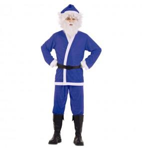 Fato de Pai Natal Azul homem
