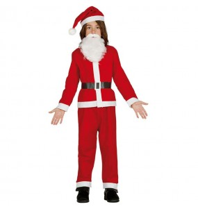 Disfarce Pai Natal barato menino para deixar voar a sua imaginação no Natal