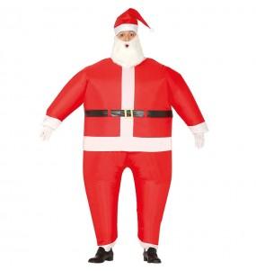 Disfarce inflável de Pai Natal adulto divertidíssimo para Natal