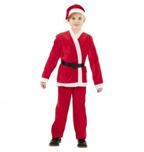 Fato de Pai Natal vermelho para menino