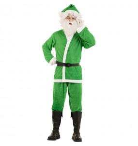 Fato de Pai Natal Verde homem