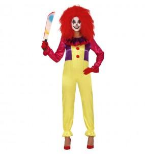 Fato de Palhaça Assassina Pennywise mulher para a noite de Halloween