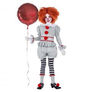 Disfarce Halloween Palhaça It Pennywise meninas para uma festa Halloween