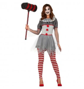 Fato de Palhaça mau mulher para a noite de Halloween