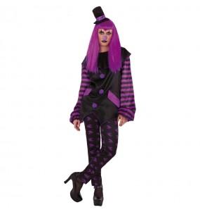 Fato de Palhaça Malvada mulher para a noite de Halloween