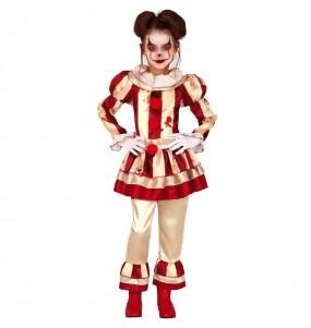 Disfarce Halloween Palhaça perturbada meninas para uma festa Halloween