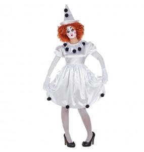 Disfarce original Palhaça Pierrot mulher ao melhor preço