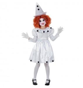 Disfarce Palhaça Pierrot menina para que eles sejam com quem sempre sonharam