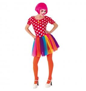 Disfarce original Palhaça Tule Multicolor mulher ao melhor preço