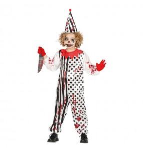 Disfarce Halloween Palhaço assassino para meninos para uma festa do terror