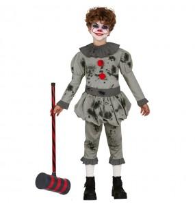 Disfarce Halloween Palhaço assassino malvado para meninos para uma festa do terror