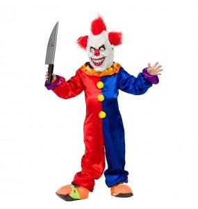 Disfarce Halloween Palhaço Diabólico meninos para uma festa do terror