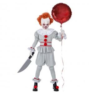 Disfarce Halloween Palhaço IT Pennywise meninos para uma festa do terror