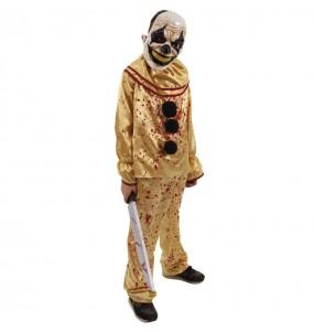 Disfarce Halloween Palhaço maníaco para meninos para uma festa do terror