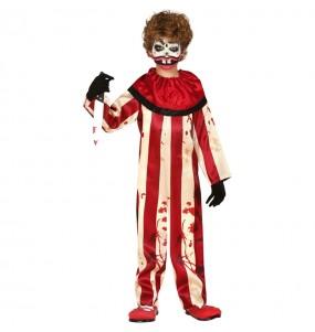 Disfarce Halloween Palhaço perturbado para meninos para uma festa do terror