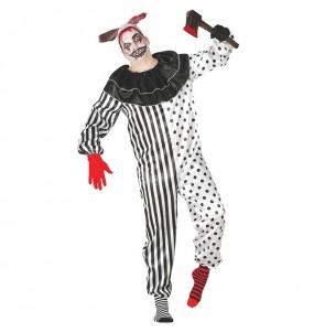Fato de Palhaço psicótico adulto para a noite de Halloween