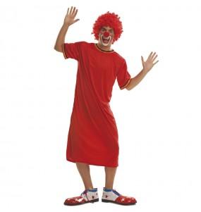 Disfarce Palhaço Vermelho Miliki adulto divertidíssimo para qualquer ocasião