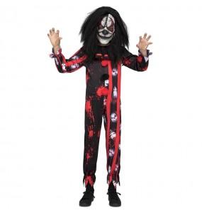 Disfarce Halloween Palhaço sangrento para meninos para uma festa do terror
