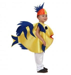 Disfarce Peixe menino para deixar voar a sua imaginação