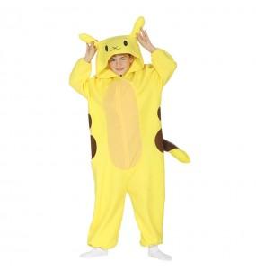 Disfarce japonês Pikachu Kigurumi criança para deixar voar a sua imaginação