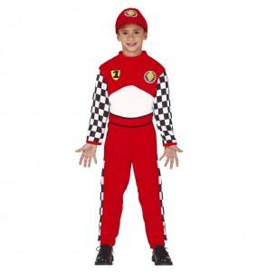 Disfarce Piloto de corridas menino para deixar voar a sua imaginação