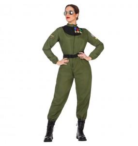 Disfarce original Piloto de caça mulher mulher ao melhor preço