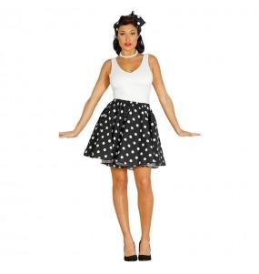 Disfarce original Pin Up anos 60 preto mulher ao melhor preço
