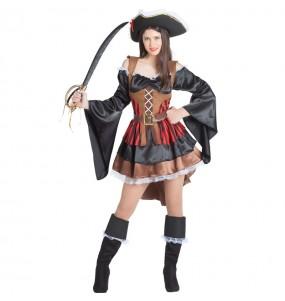 Disfarce original Pirata dos mares mulher ao melhor preço
