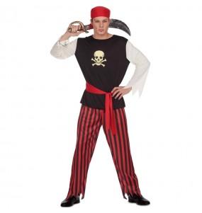 Disfarce Pirata do Tesouro adulto divertidíssimo para qualquer ocasião