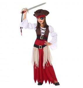 Disfarce Pirata do Caribe menina para que eles sejam com quem sempre sonharam