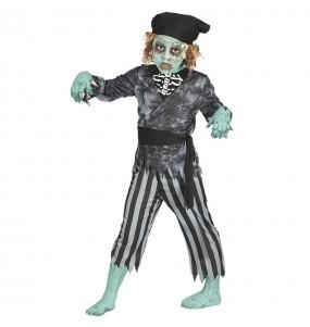Disfarce Halloween Pirata fantasma para meninos para uma festa do terror