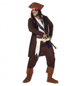 Fato de Pirate Jack Sparrow para homem