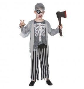 Fato de Pirata zombie para menino