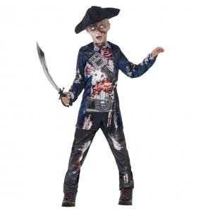 Fato de Pirata zombie sangrento para menino