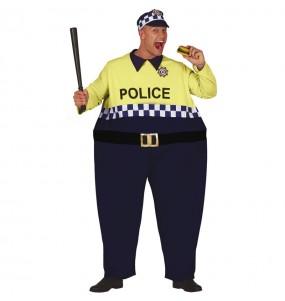 Disfarce Polícia Gordinho adulto divertidíssimo para qualquer ocasião