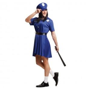 Disfarce Policial peituda adulto divertidíssimo para qualquer ocasião