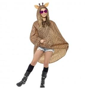 Disfarce Girafa Poncho impermeável adulto divertidíssimo para qualquer ocasião