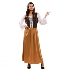 Disfarce original Estalajadeira medieval mulher ao melhor preço