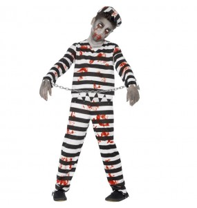 Disfarce Halloween Prisioneiro zombie para meninos para uma festa do terror