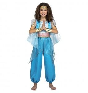 Disfarce princesa ?rabe turquesa menina para que eles sejam com quem sempre sonharam