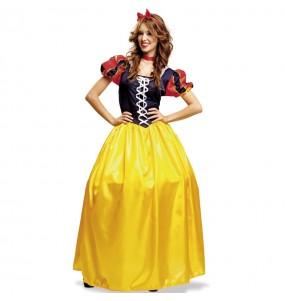 Disfarce original Princesa Branca de Neve mulher ao melhor preço