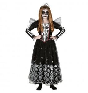 Fato de Princesa Esqueleto para menina
