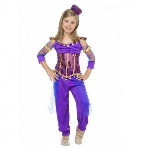Fato de Princesa Jasmine púrpura para menina