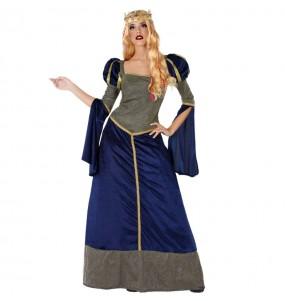 Disfarce original Princesa Medieval azul mulher mulher ao melhor preço