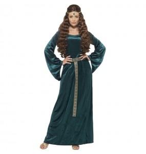 Disfarce original Princesa Medieval Leonilde mulher ao melhor preço
