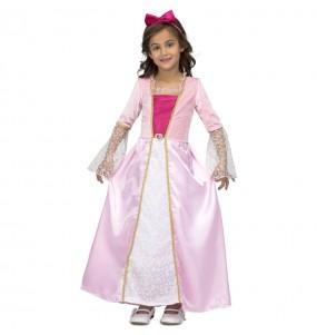Disfarce princesa rosa estrelas menina para que eles sejam com quem sempre sonharam