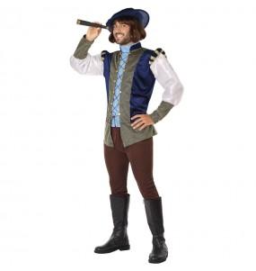Disfarce Príncipe Medieval azul adulto divertidíssimo para qualquer ocasião